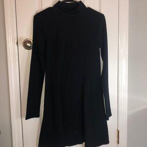 Forever 21 black long sleeve halter dress